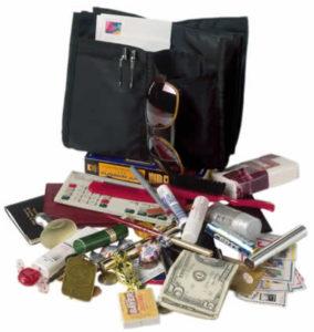messy removable purse organizer